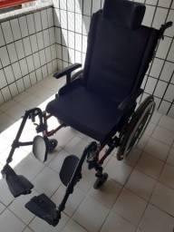 Cadeira de rodas AVD alumínio reclinável Ortobras