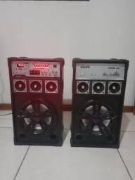 Kit 2 Caixas de som Vicini VC-7300 Usada-Não aceito troca