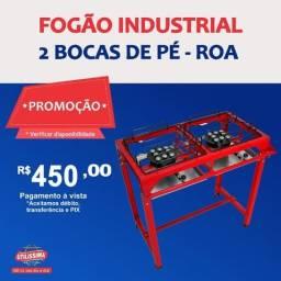 Título do anúncio: Fogão industrial alta pressão 2 bocas com pé