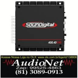 Modulo Amplificador Soundigital Sd400 400w Rms 4C Automotivo Carro Som