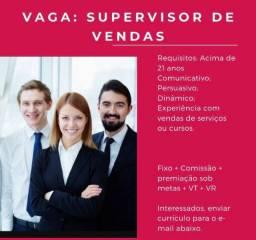 Título do anúncio: Supervisor em vendas