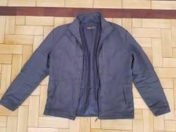 Jaqueta de Nylon Cinza