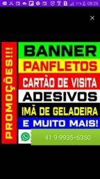 Título do anúncio: Cartors de Visita Panfletos (Baratos) Tags imas Blocos Adesivos Banners em Curitiba