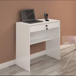 Mesa de escritório branca 1 gaveta em ótimo estado