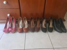 Lote 5 pares de sapatos 33/34 Botero, Morena Rosa, Via Marte