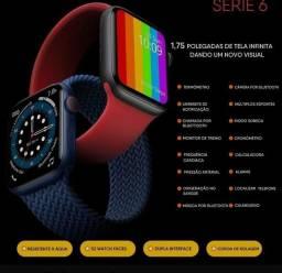 Smartwatch w56 iwo 13 pro + 2 brindes( case e pulseira extra)