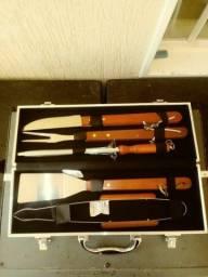 Kit Churrasco utensílios gourmet