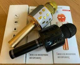 Microfone Karaokê Portátil C/ Bluetooth E Controle Mixer Pronta entrega!