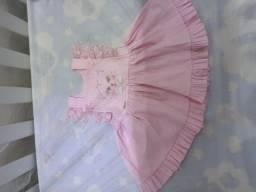 Jardineira de Bebe rosa