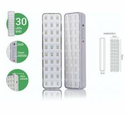 Luminária Lâmpada Led Luz de Emergência 30 Leds Lítio Premium 4w
