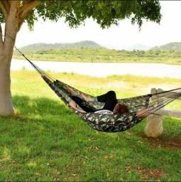 Rede de dormir,nylon ,selva, camuflada ,camping,trilha