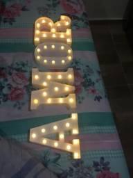 Letras luminárias