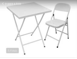 Mesa aço ferro dobrável com cadeiras