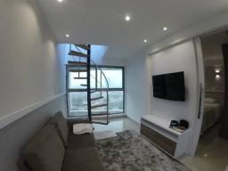 Cobertura - Ponta Negra - 80m² - Vista-mar - 100% mobiliada -SN