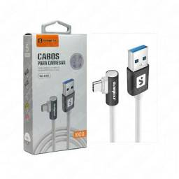 Cabo TIPO C plug lateral 2.4A 1m SS-B9C - Sumexr<br><br>