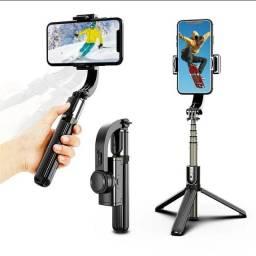 Gimbal Estabilizador Vídeo Foto Selfie Stick TriPod Bruetooth 4.0 Wireless Pau de Selfie