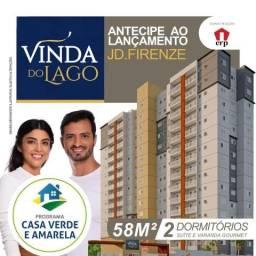 Vinda do Lago Aptos 58m2 2 Dorms 1 Suíte,Sala,Cozinha,Banheiro,Varanda Gourmet,1 Vaga