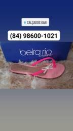 Rasteira Beira Rio cor disponível verde ou rosa N° 33 34 35 36 37 38 39 40