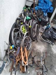 Lote de bike desmontado