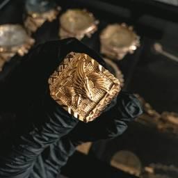 Anel Eagle Banhado a Ouro 18K