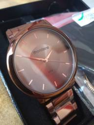 Kit Relógio Mondaine Feminino Marrom - Oferta