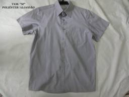 "Camisa Social Argonaut Tam: (""2"") ""M"" Cinza Claro Riscado Vertical"