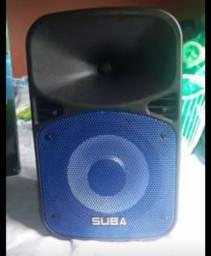 Título do anúncio: Caixa de som vem com microfone/ Nova