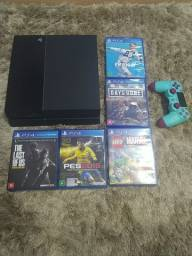 PS4 / Playstation 4 / Play 4 + 1 Controle + Jogos