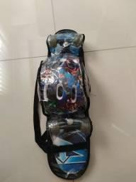 Skate infantil vingadores + kit de segurança