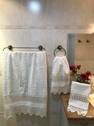 Kit toalhas bainha aberta para banheiro
