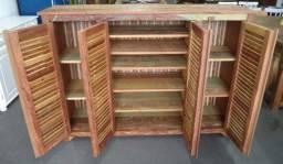 comoda em madeira de demolição portas ventiladas.