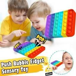 Pop It Fidget Toys Anti Stress Sensorial Colorido brinquedos