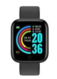 Relógio Smartwatch D20 com Bluetooth USB com Monitor Cardíaco