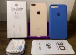 Título do anúncio: iPhone 8Plus impecável com 100% de bateria