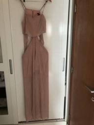 Vestido rosa com dourado Myplace