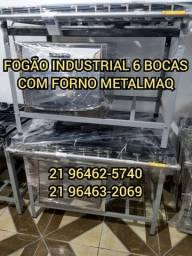 FOGÃO INDUSTRIAL METALMAQ 6 BOCAS COM FORNO NOVO DIRETO DE FABRICA!!