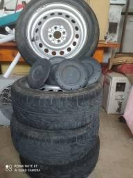 Rodas aro 15 pneus 195/55R-15