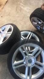Título do anúncio: Rodas com 4 pneus zero, Aro 17