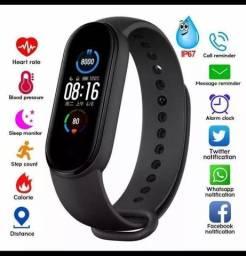 Smartwatch M5 pulseira inteligente nova a prova d'agua
