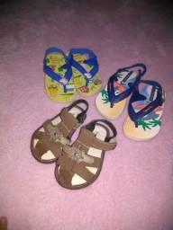 Sandálias pra bebe menino
