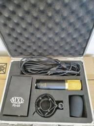 Título do anúncio: Microfone Condensador Valvulado MXL V69 Mogami Edition Case Espuma Suporte Fonte Cabo XLR