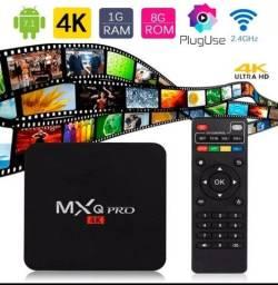 Título do anúncio: Tv box MXQ Pró 5g 8x128G Entregamos e Instalamos