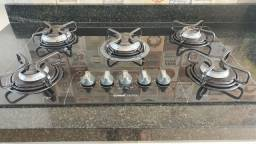Fogão cooktop 5 bocas