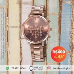 Relógio Seculus Feminino Original 2 Anos de Garantia