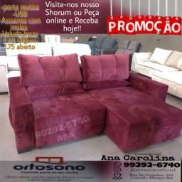 Título do anúncio: Sofa retratil 2.20 largura  __ Sofa @@@