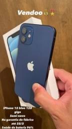 Título do anúncio: iPhone 12 blue 128 giga