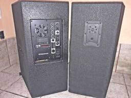 Título do anúncio: Caixas Ativa e Passiva 15'' 800w Total (Bluetooth/FM/Usb/SD/Aux)