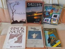 Kit Livros de Partituras e Cifras de Música Gospel