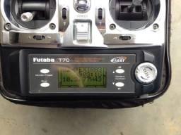 Aeromodelo Radio Futaba fasst 2.4 T7C 7 canais