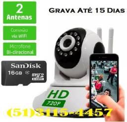 Camera Seguranca Sem Fio Ip 1.3 Mp Hd 720 + Cartao Memoria 16Gb